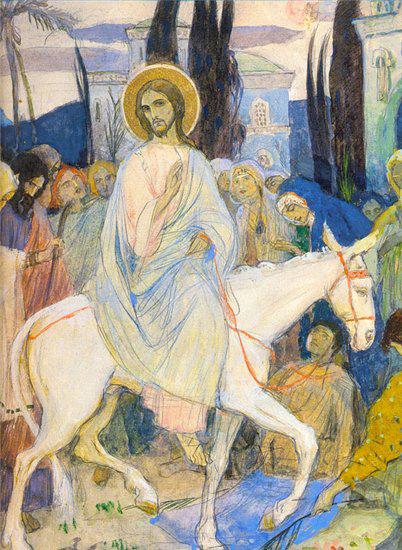 Михаил Нестеров. Вход Господень в Иерусалим