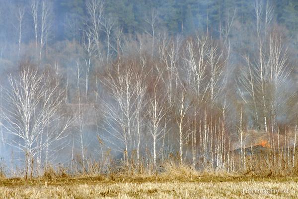 Горит земля. Фото Олега Давыдова