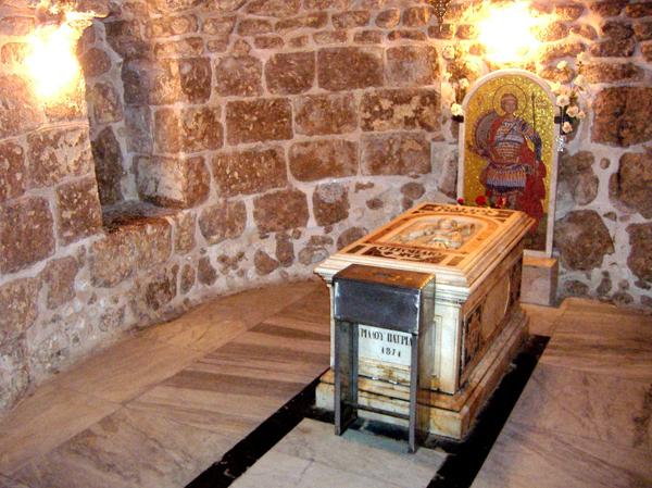 Мощи святого Георгия в городе Лод, Израиль