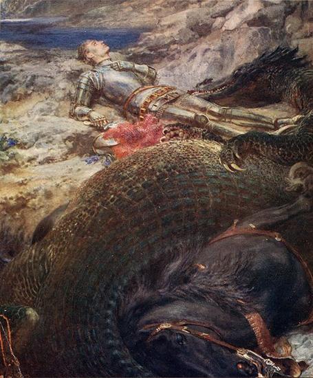 Брайтон Ривьер. Святой Георгий и дракон