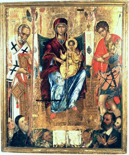 Мадонна на троне между святыми Георгием и Николаем