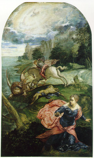 Тинторетто. Святой Георгий и дракон