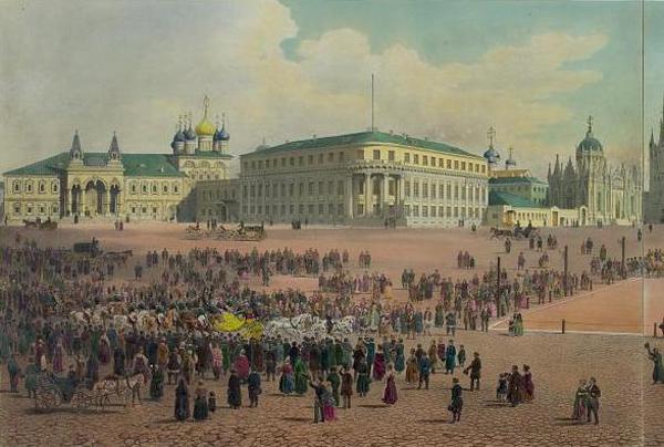 Чудов монастырь, Сенат и Вознесенский монастырь, середина XIX века