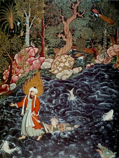 На этой миниатюре изображен пророк Ильяс