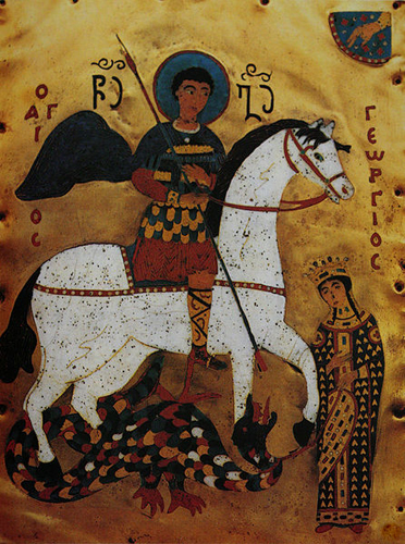 Георгий Победоносец. Грузинская икона