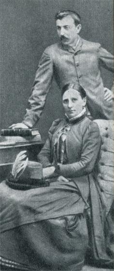Метте и Поль Гоген в Копенгагене в 1885 г., до того, как семья распалась.