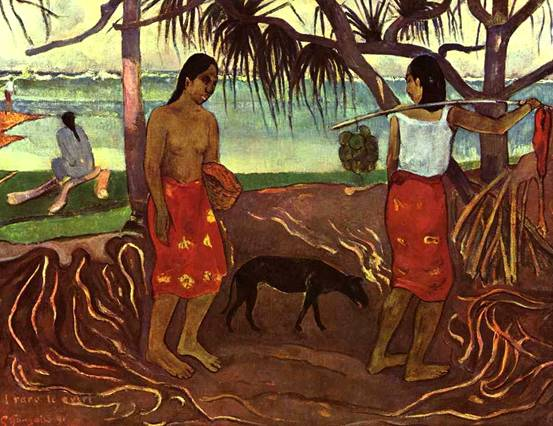 И Раро Те Овири (На берегу океана).  1891 г.