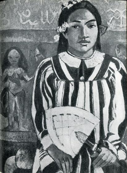 28. Тринадцатилетняя вахина Гогена — Теха'амана (в его книге «Ноа Ноа» она названа Техурой), с которой он прожил год в Матаиеа и Папеэте.