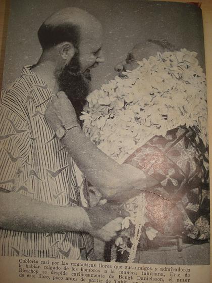 Автор книги ГОГЕН В ПОЛИНЕЗИИ Бенгт Даниэлльсон (слева) и Тор Хейердал