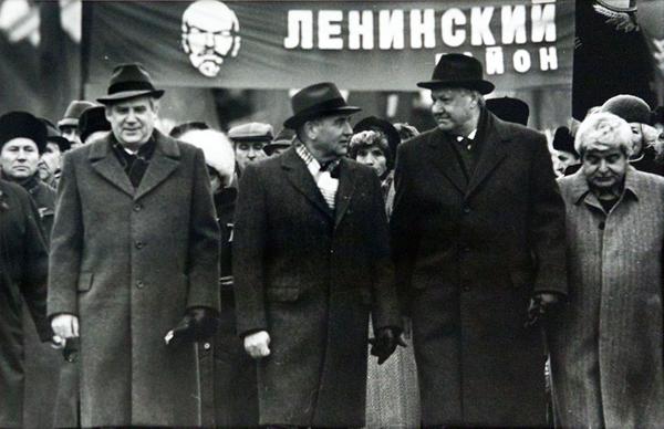 Рыжков, Горбачев, Ельцин, Попов
