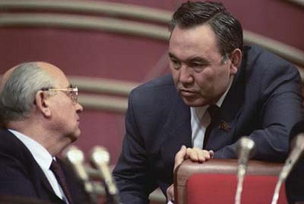 Горбачев и Назарбаев. 1991 год