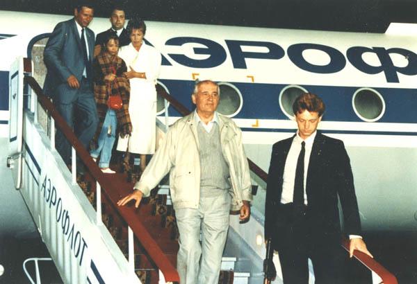 Возвращение Горбачева из Фороса