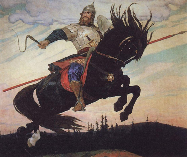 Илья Муромец. Картина Виктора Васнецова, 1914 год