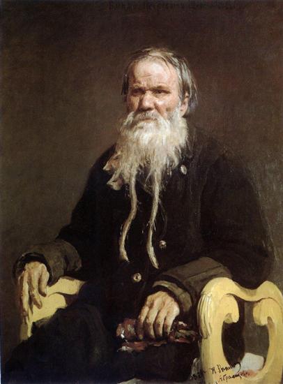Илья Репин. Портрет сказителя былин В.П.Щеголенкова