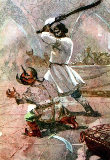Илья Муромец и Тугарин на княжеском пиру