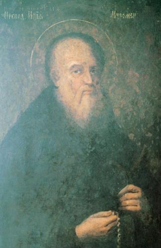 Преподобный Илья Муромский.  Киево-Печерская Лавра, икона  XIX века, находится у раки мощей святого