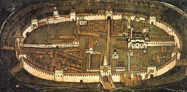 Детинец — крепость Новгорода, внутри — Софийский собор