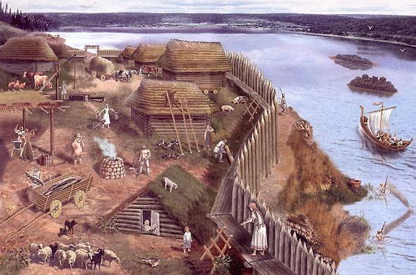 Поселение древних славян. Историческая реконструкция