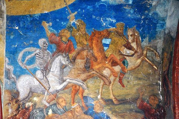 Великий Новгород. Фреска Знаменского собора