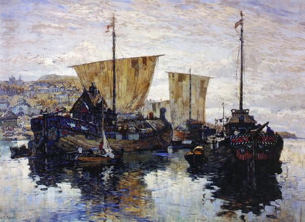 Константин Горбатов. Струги. Великий Новгород. 1910