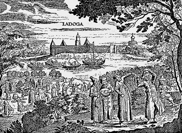 Гравюра из книги А. Олеария «Описание путешествия в Московию…». Середина 1630-х – первая половина 1640-х гг.