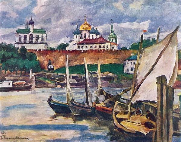 Петр Кончаловский. Новгород. Детинец. 1925 год
