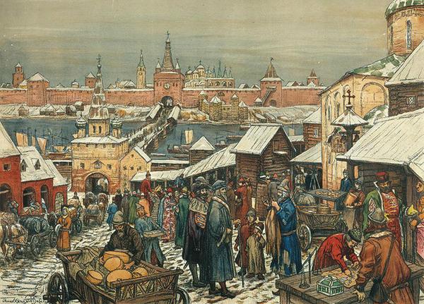 Виктор Васнецов. Новгородский торг