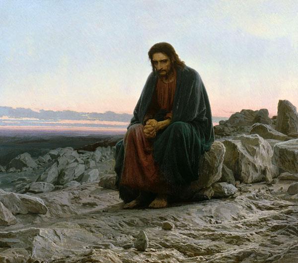 Крамской Иван Николаевич. «Христос в пустыне»