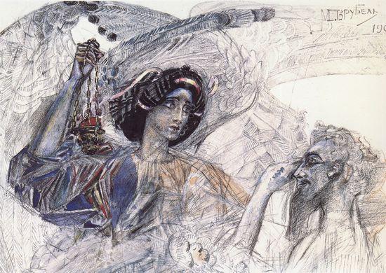 """Михаил Врубель. """"Шестикрылый Серафим"""". 1905 г."""