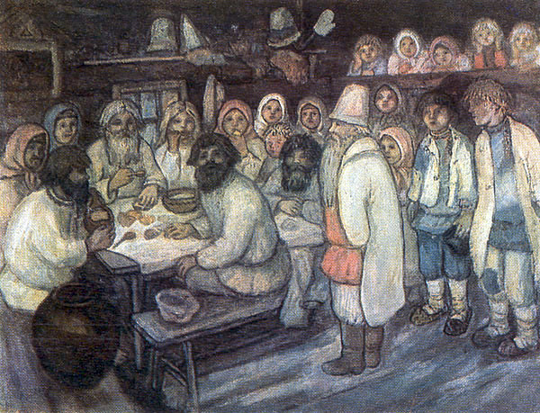 Ефим Честняков. Приход колдуна