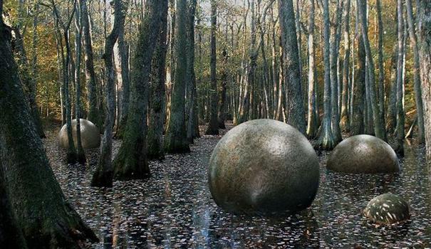 Те самые найденные в костариканской сельве гранитные камешки, о которых идет речь в передаче