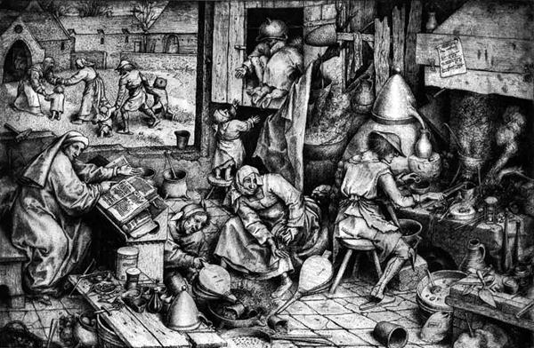 Колдуны и жертвы. Средневековая картинка