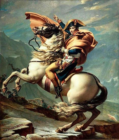Наполеон переходит Альпы. Жак Луи Давид