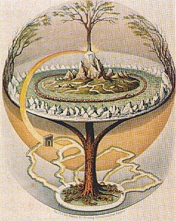 В шаманской традиции мир разделен на три части: Нижний, Средний и Верхний миры. Эти миры соединены Мировым Деревом, чьи корни уходят глубоко в Нижний мир, а крона поднимается в Верхний.