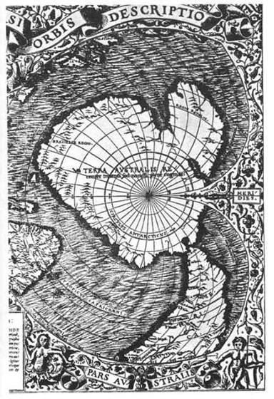 Карта Антарктиды Буаше 1737 года. Действительный член Французской академии наук Филипп Буаше опубликовал свою карту Антарктиды. Особенностью карты Буаше является то, что он дал точное изображение того времени, когда Антарктида была совершенно свободна ото льда. По-видимому, Буаше пользовался древними картами. На его карте дана подледная топография континента, о которой ученые не имели представления до 1958 года, когда были проведены сейсмографические исследования.