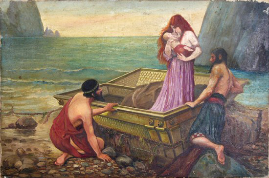 Даная. Художник John William Waterhouse, 1892 г.