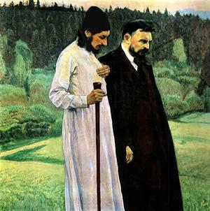 М.Нестеров. Философы. (Флоренский и Булгаков), 1917
