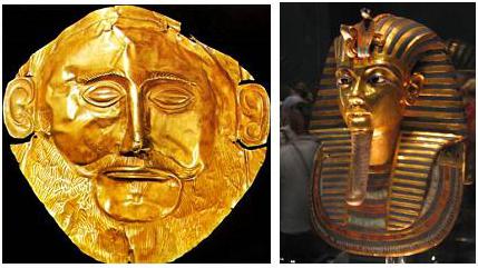 золото Микен и Египта
