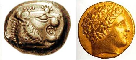 монеты Лидии и Македонии
