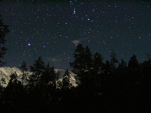 Орион, зимняя ночь