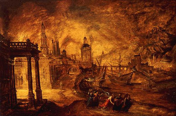 Содом и Гоморра Картина К. де Кейнинка 16 век