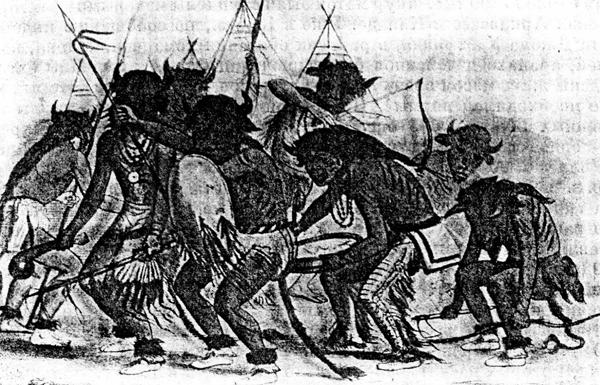 Танец  бизонов у индейцев манданов