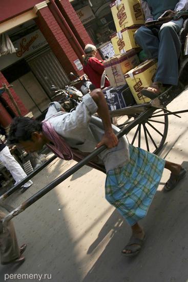 Индия, Калькутта, рикша. Фото: Глеб Давыдов