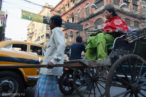 Рикша. Индия, Калькутта. Фото: Глеб Давыдов