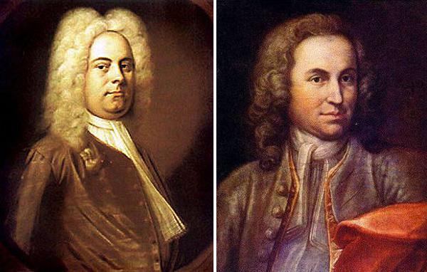 Гендель (слева) и Бах