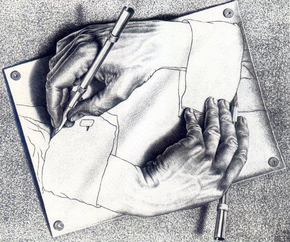Рисующие руки. Эшер