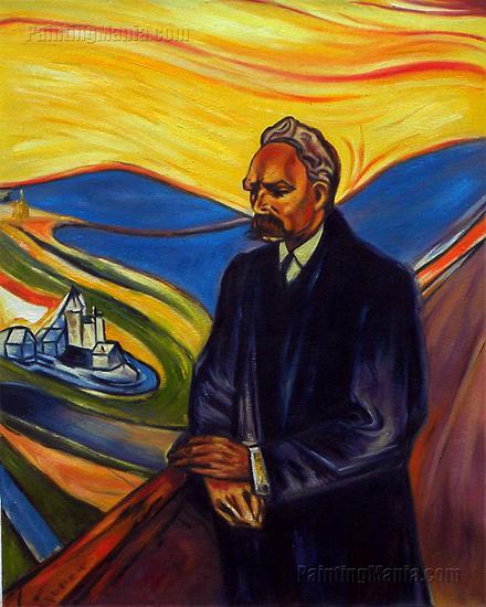 Фридрих Ницше. Портрет работы Эдварда Мунка