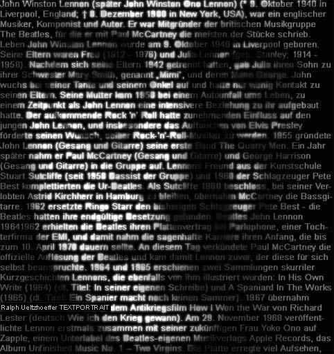 John Lennon. Портрет из буковок