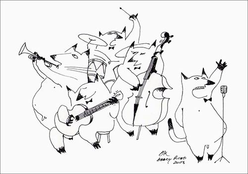 """Одна из картин Андрея Макаревича из серии Картинки с Abbey Road"""" (2006)"""