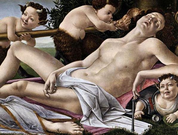 Сандро Боттичелли, «Венера и Марс», фрагмент